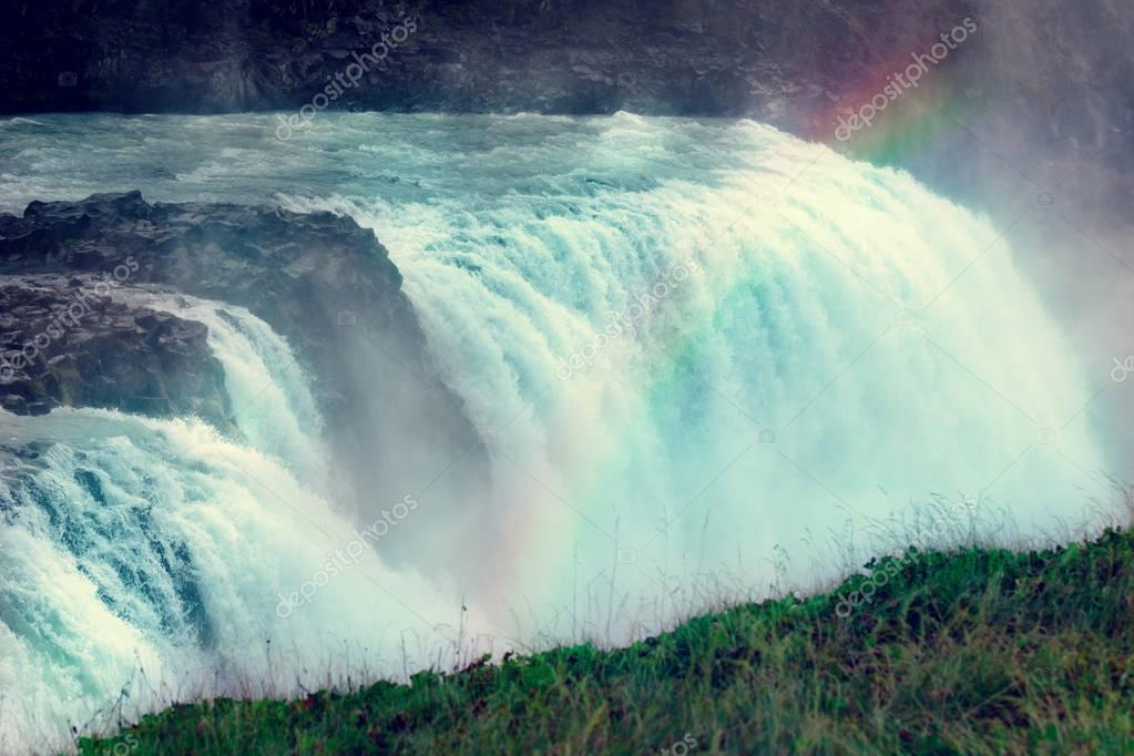 Фотообои Gullfoss Waterfal Icelandic scenery