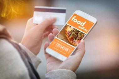 Ordering food online by smartphone