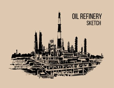 oil refinery sketch