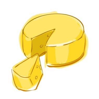 Cheese wheel color sketch