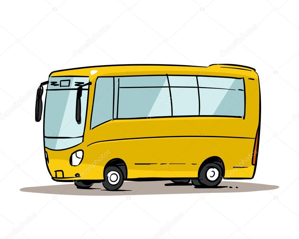 Bus jaunes de dessin anim image vectorielle natashin - Autocar dessin ...