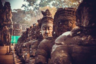Statue in a temple in Cambodia