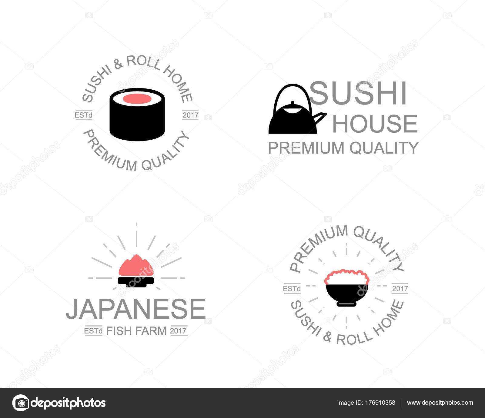 Vintage japanische Küche und Sushi, Wasabi, Soja, Soße, Rollen ...