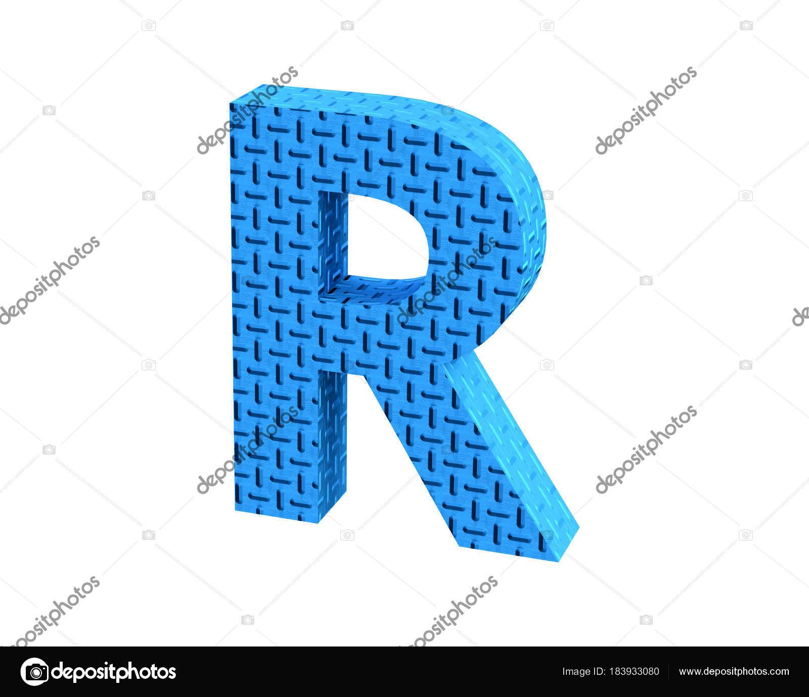 3D rendering Font Plastic blue treadplate capital R u2014 Photo by dhz-ontwerpen@hotmail.com  sc 1 st  Depositphotos & Font Plastic blue treadplate capital R render u2014 Stock Photo © dhz ...