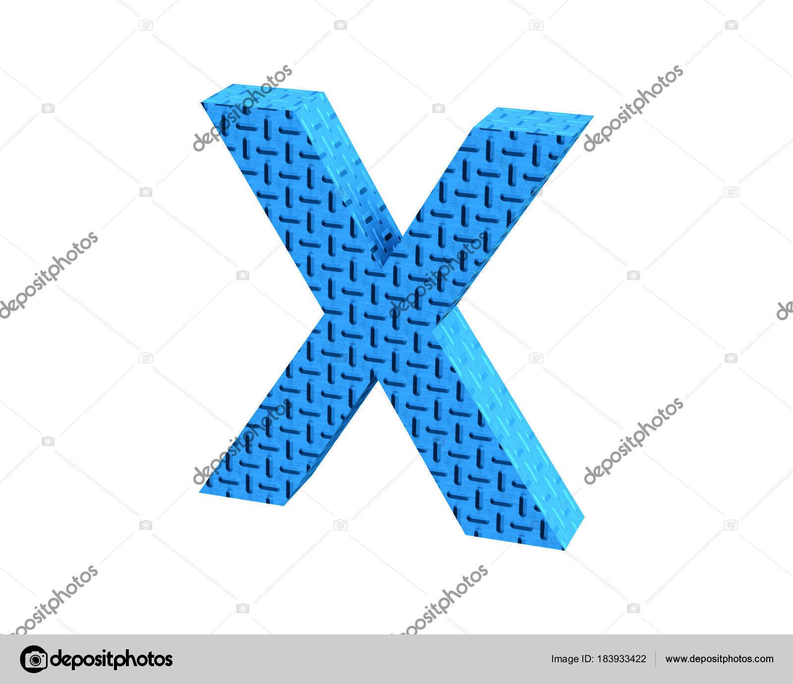 3D rendering Font Plastic blue treadplate capital X u2014 Photo by dhz-ontwerpen@hotmail.com  sc 1 st  Depositphotos & Font Plastic blue treadplate capital X render u2014 Stock Photo © dhz ...