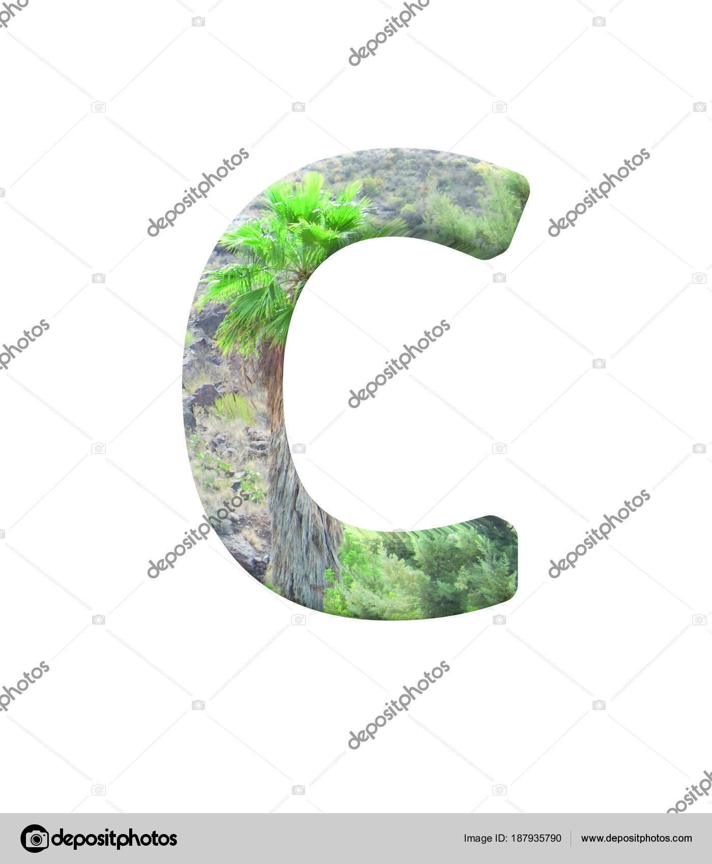 Font Gran Canaria Capital C Render Stockfoto Dhz Ontwerpen