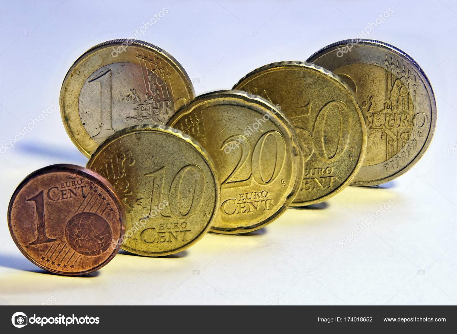 Euro Münzen Cent Cent Cent Cent Euro Und Euro Stockfoto