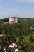 Pohled na Willibaldsburg hrad, Eichstaett, Altmuehltal údolí, Horní Bavorsko, Bavorsko, Německo, Evropa