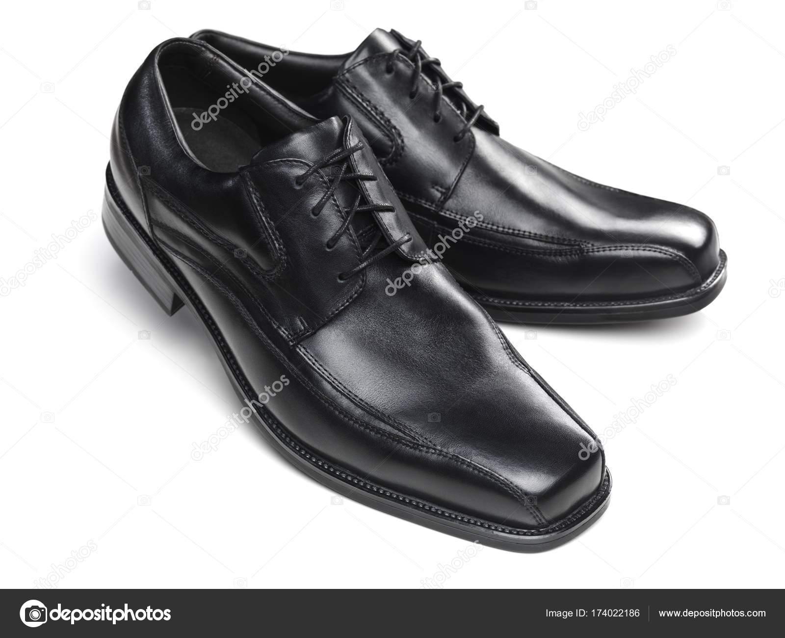 Par Zapatos Vestir Los Hombres Negro Foto De Stock