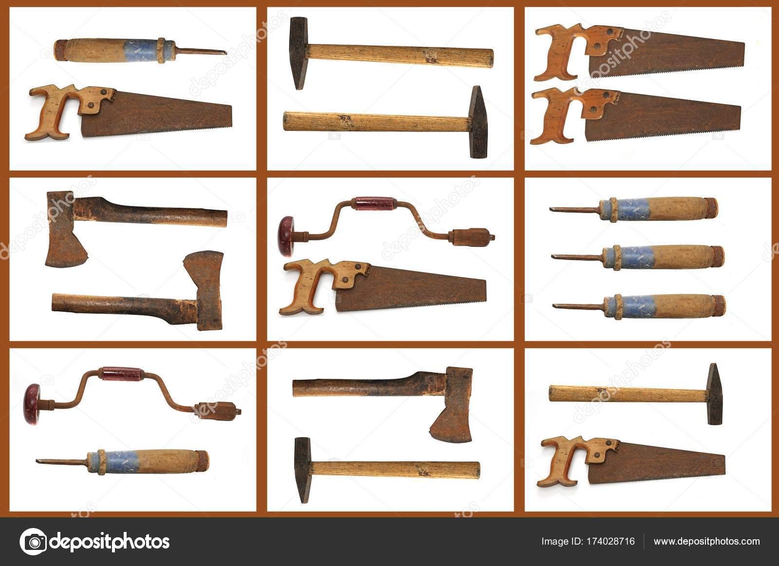 Old Handicrafts Tools Collage Stock Photo C Imagebrokermicrostock