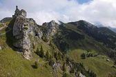 Fotografie Blick auf die Allgäuer Alpen und dem Bayerischen Hochland, Wendelstein, Bayern, Deutschland, Europa