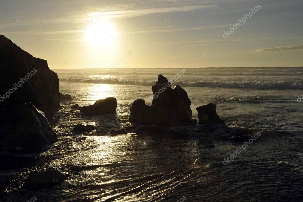 Rocks on the beach of El Cotillo, Fuerteventura, Canary Islands, Spain, Europe
