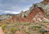 Waterpocket Fold, Valle di Strike, Mulay Twist Canyon, Parco nazionale di Capitol Reef, Utah, Usa, Nord America