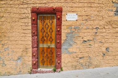 Wooden door on Liguria, Cinque Terre, Italy, Europe