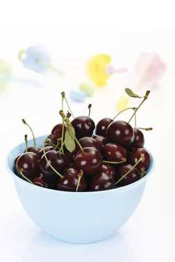 Sour Cherries in a bowl