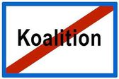 Symbolic picture, failed Koalition (Ger. for coalition)