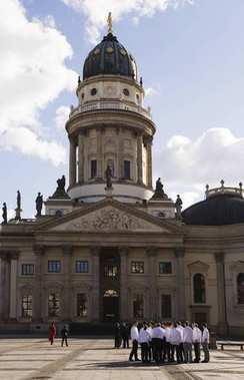 German Cathedral, Gendarmenmarkt Square, Berlin, Germany, Europe