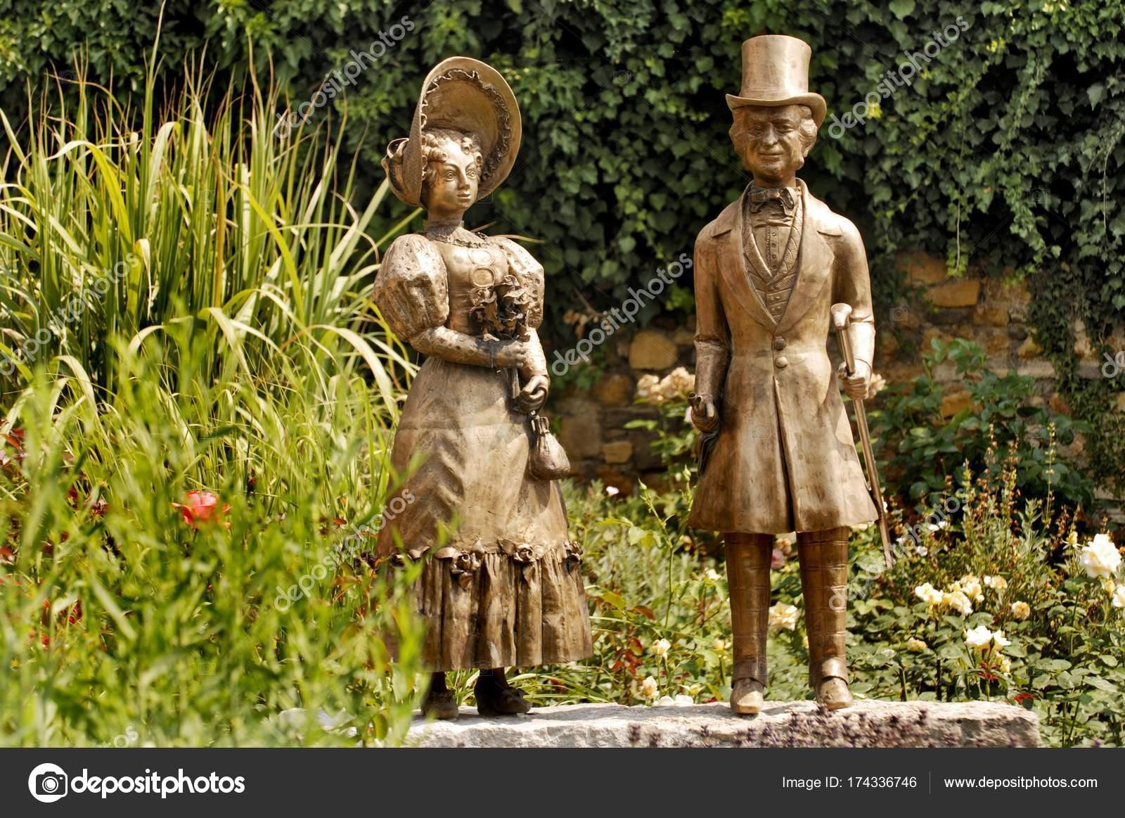Bronze Figuren Garten Der Burg Grass Der Nähe Von Wiesbaden