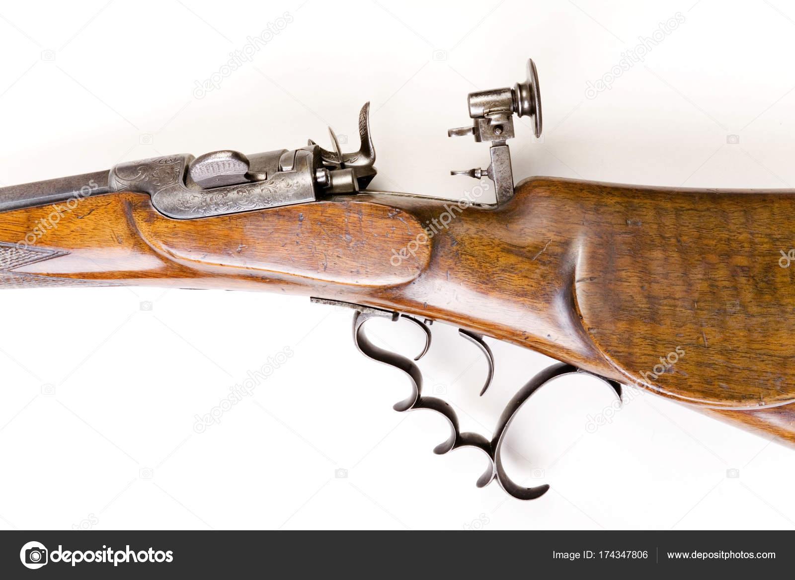Werndl Gewehr 1876 9mm Isoliert Auf Weißem Hintergrund Stockfoto