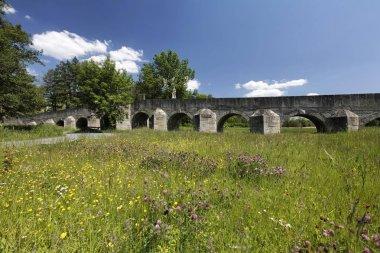 Stone bridge at Fischhof in Tirschenreuth, Upper Palatinate , Bavaria Germany