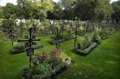 Graves on the East Cemetery in Munich Bavaria Germany