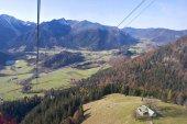 Fotografie Blick von der Seilbahn am Berg Wendelstein - Bayern