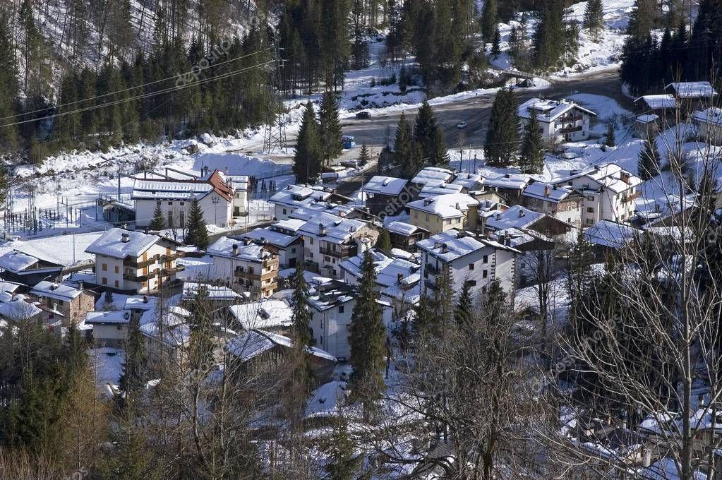 View of Falcade Belluno Italy