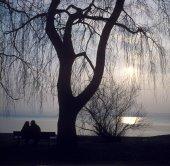 Fotografie Herrsching lake Ammersee, Upper Bavaria, Germany