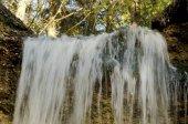 Fotografie Wasserfall im Wald im Sommer