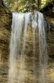 Fotografie Paehler Schlucht Gorge Schlucht mit Wasserfall des Burgleitenbach Phl Paehl Landkreis Weilheim obere Bayern Deutschland