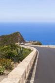 Winding mountain road in Anaga Mountains