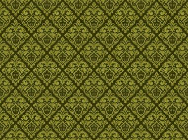 seamless vintage damask floral pattern 1