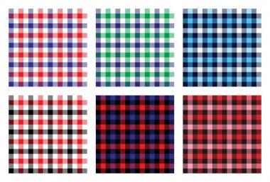 seamless checkered plaid pattern bundle 4