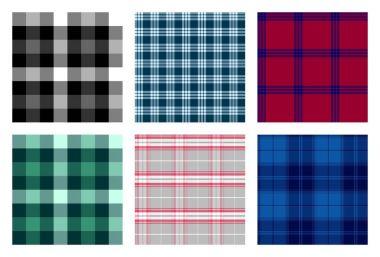 seamless checkered plaid pattern bundle 6
