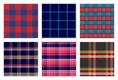seamless checkered plaid pattern bundle 1