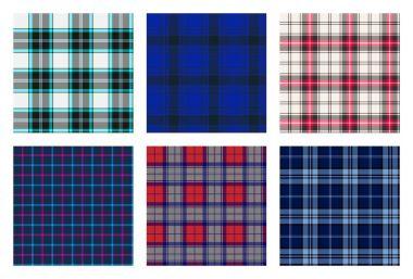seamless checkered plaid pattern bundle 7