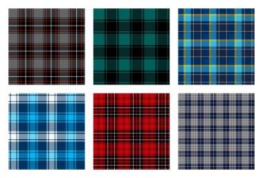 seamless checkered plaid pattern bundle 8