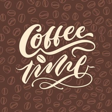 coffee time 3 vintage hand lettering typography poster