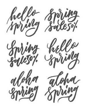 Spring hand lettering design part I. this design is suitable for use in summer, and can be applied to various media, such as media promotion, advertising and media printing