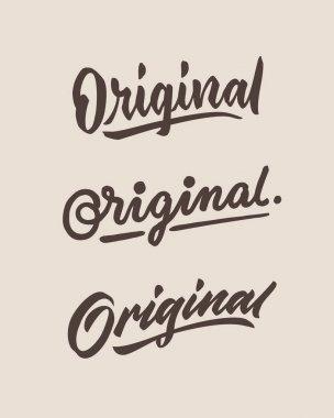 original roughen vintage hand lettering typography phrase