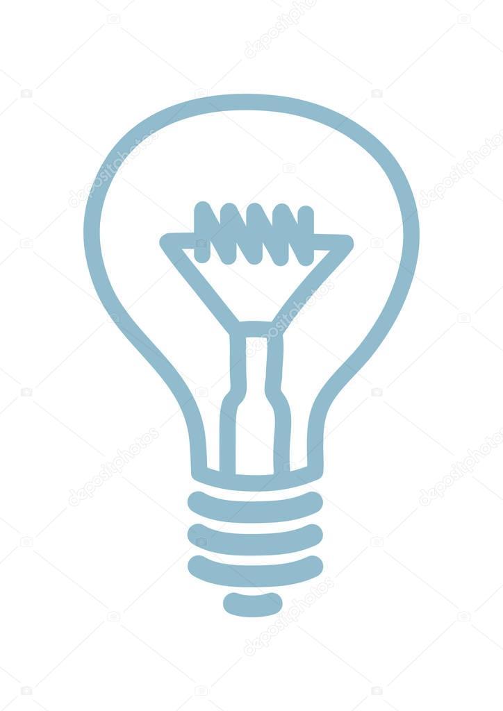 Glühbirne Symbol auf weißem Hintergrund — Stockvektor © Anthonycz ...