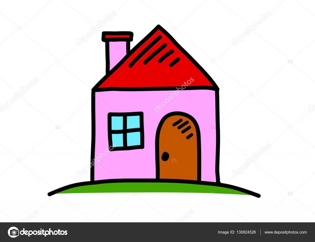 Casa disegno su sfondo bianco vettoriali stock for Casa disegno