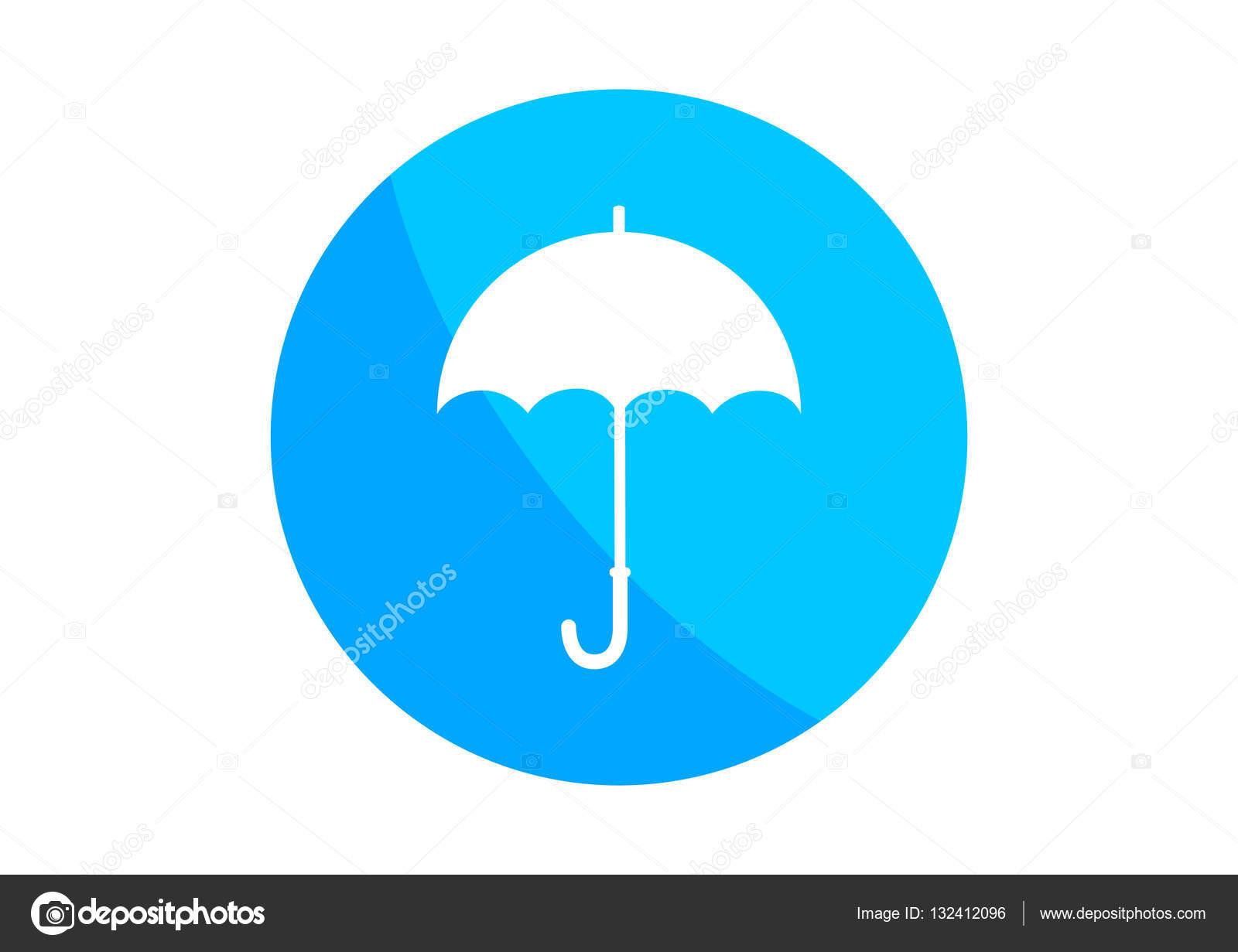 grand choix de 8883d 68723 Icône de parapluie rond sur fond blanc — Image vectorielle ...