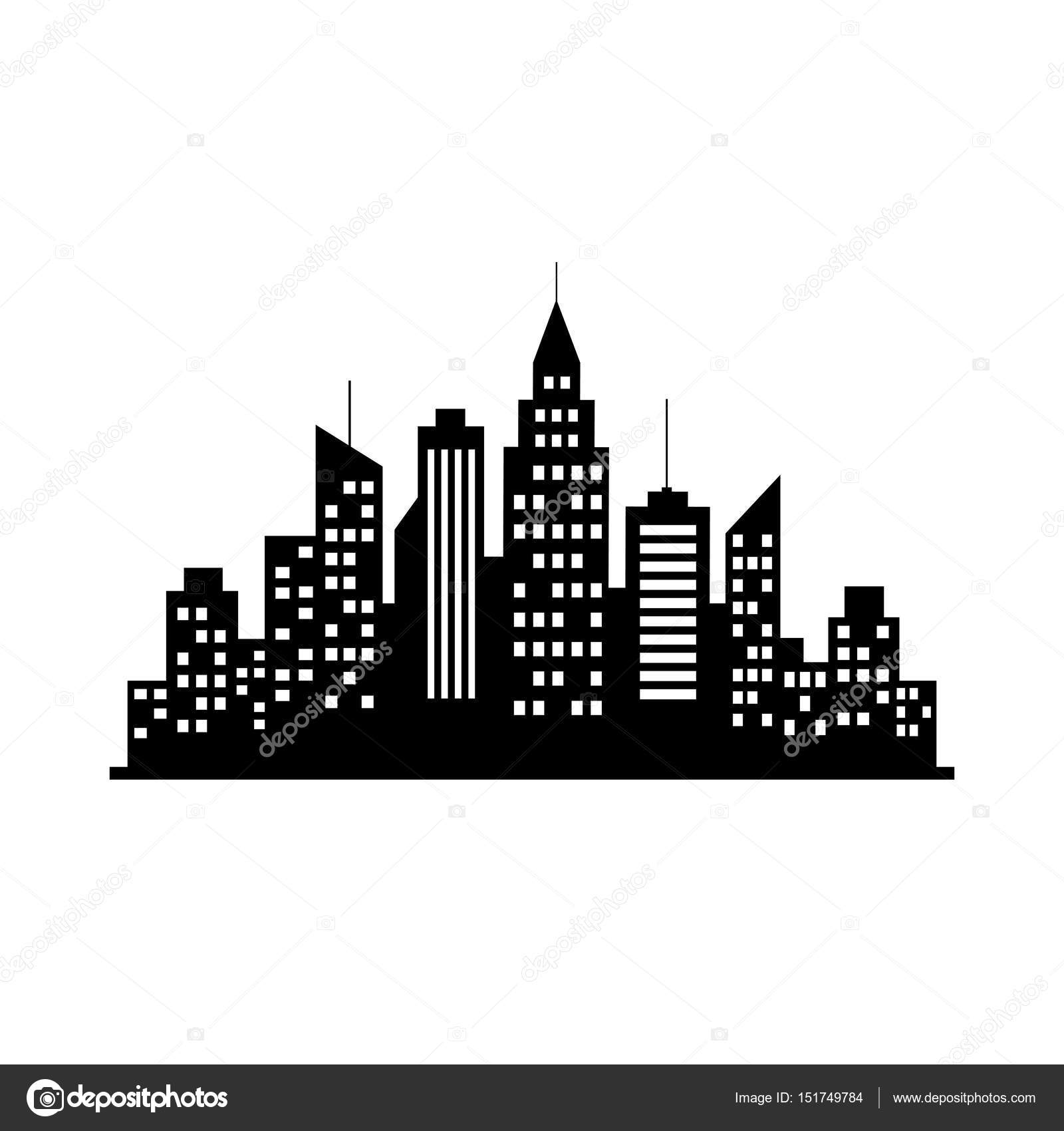 Black city vector icon on white background stock vector black city vector icon on white background stock vector voltagebd Images