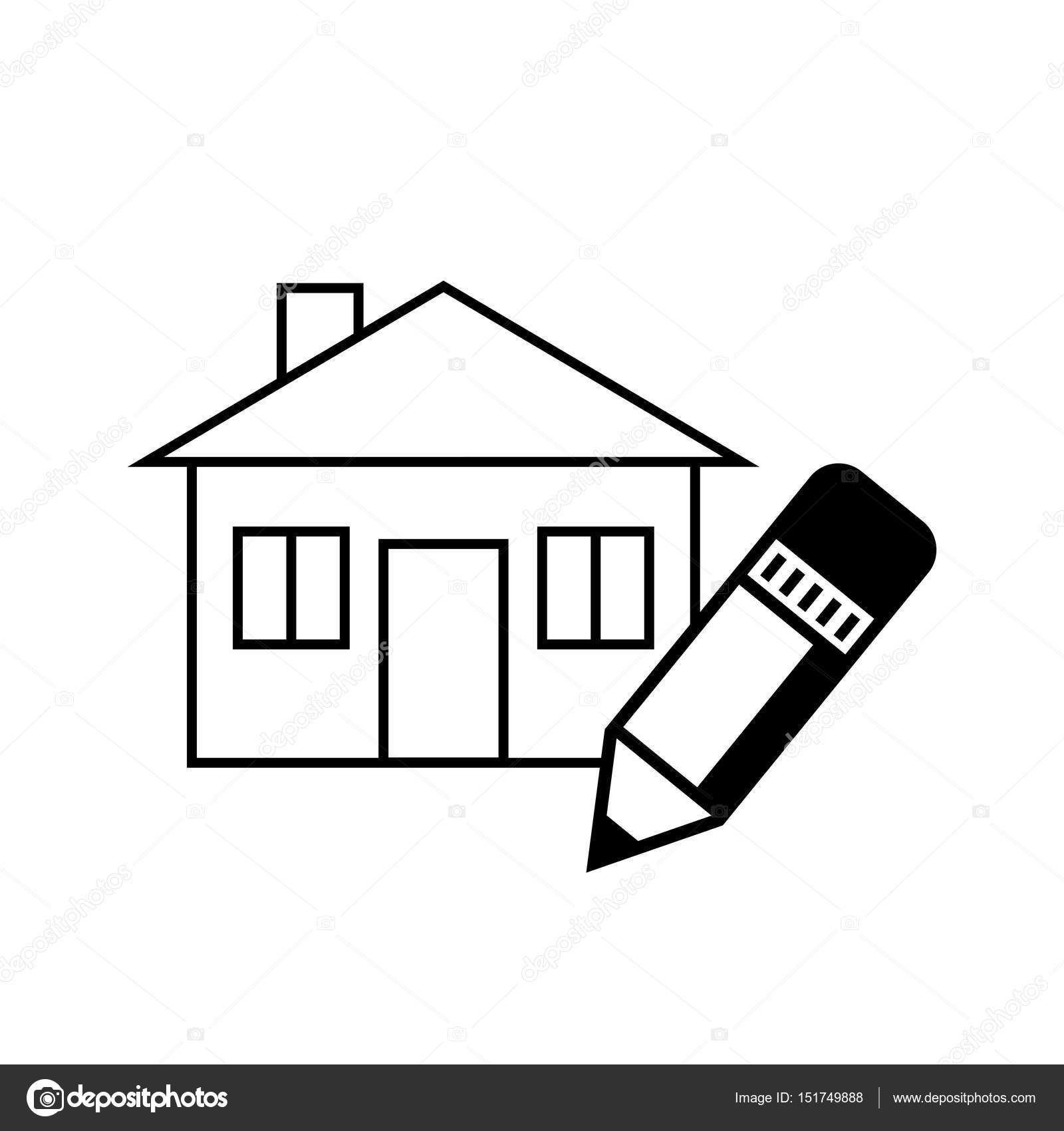 05fadd57a25c Black house icon on white background — Stock Vector © Anthonycz ...