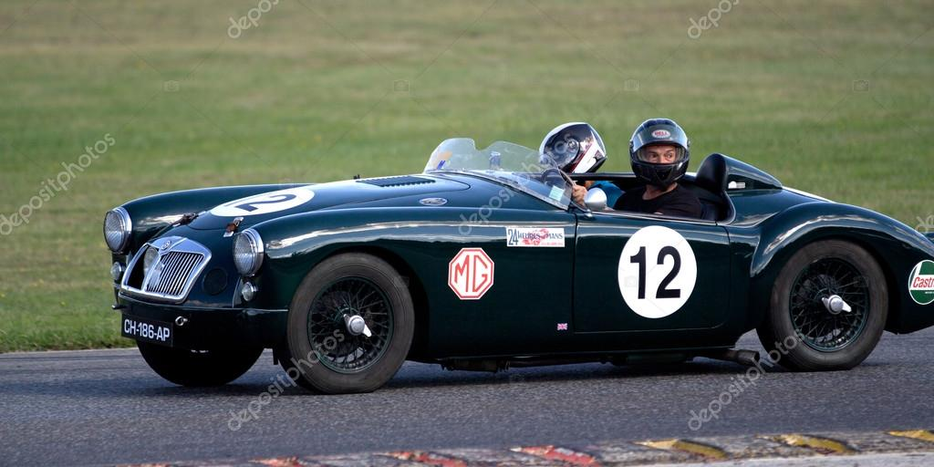 Old race car number 12. – Stock Editorial Photo © allg #127927004