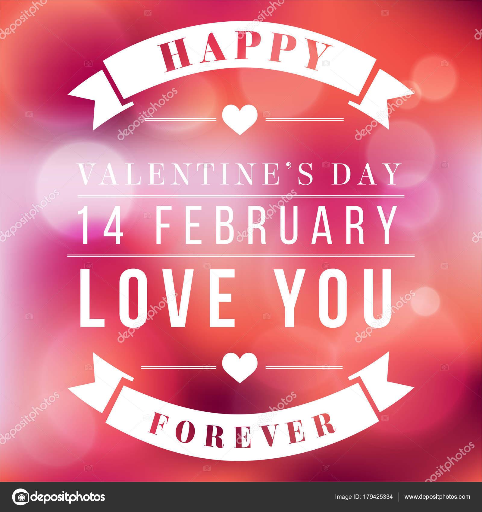 Dag Van De Valentijnskaart Love You Forever Vector Image