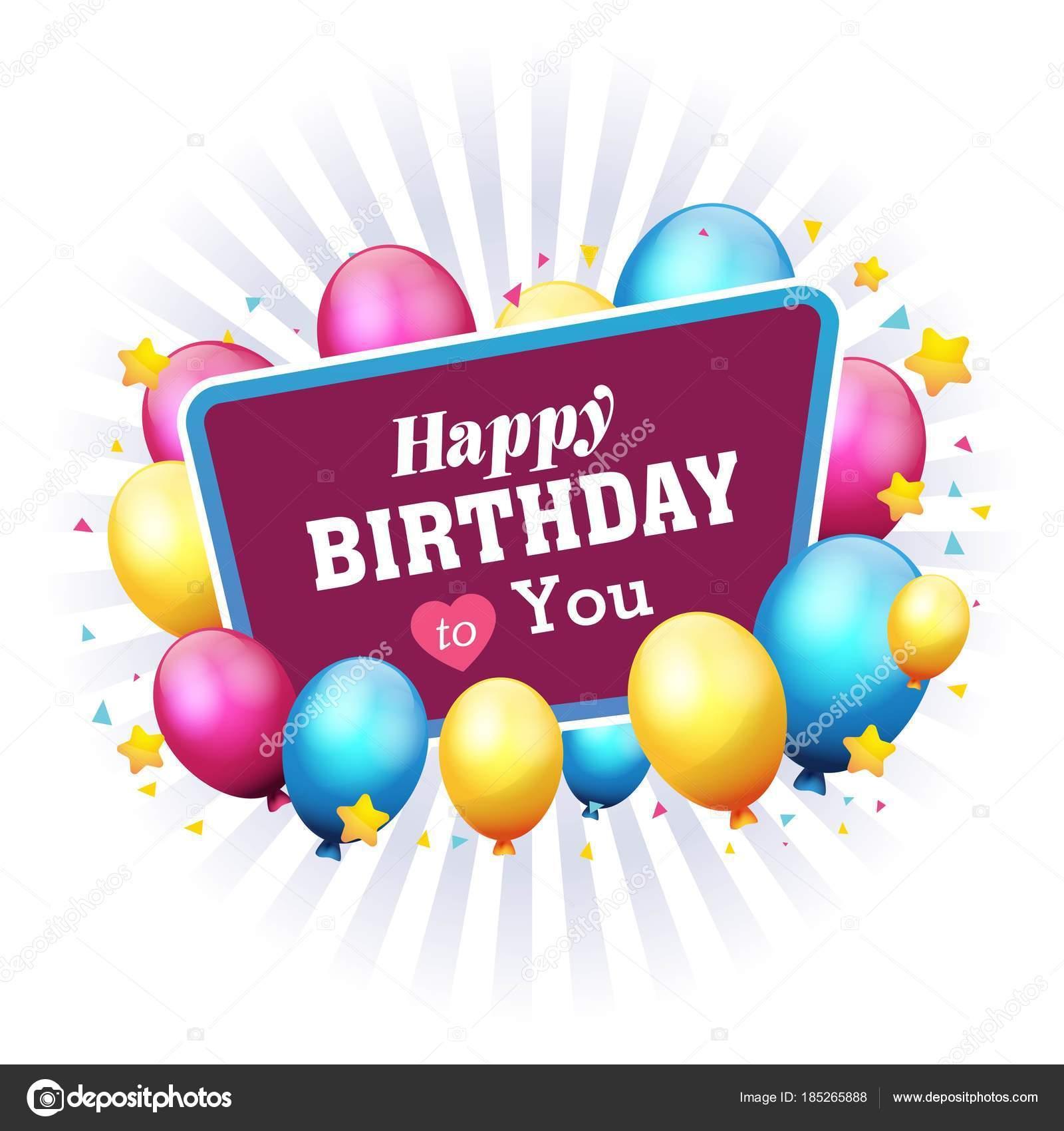 Feliz Cumpleaños Marco Balón Estrella Fondo Vector Imagen — Vector ...