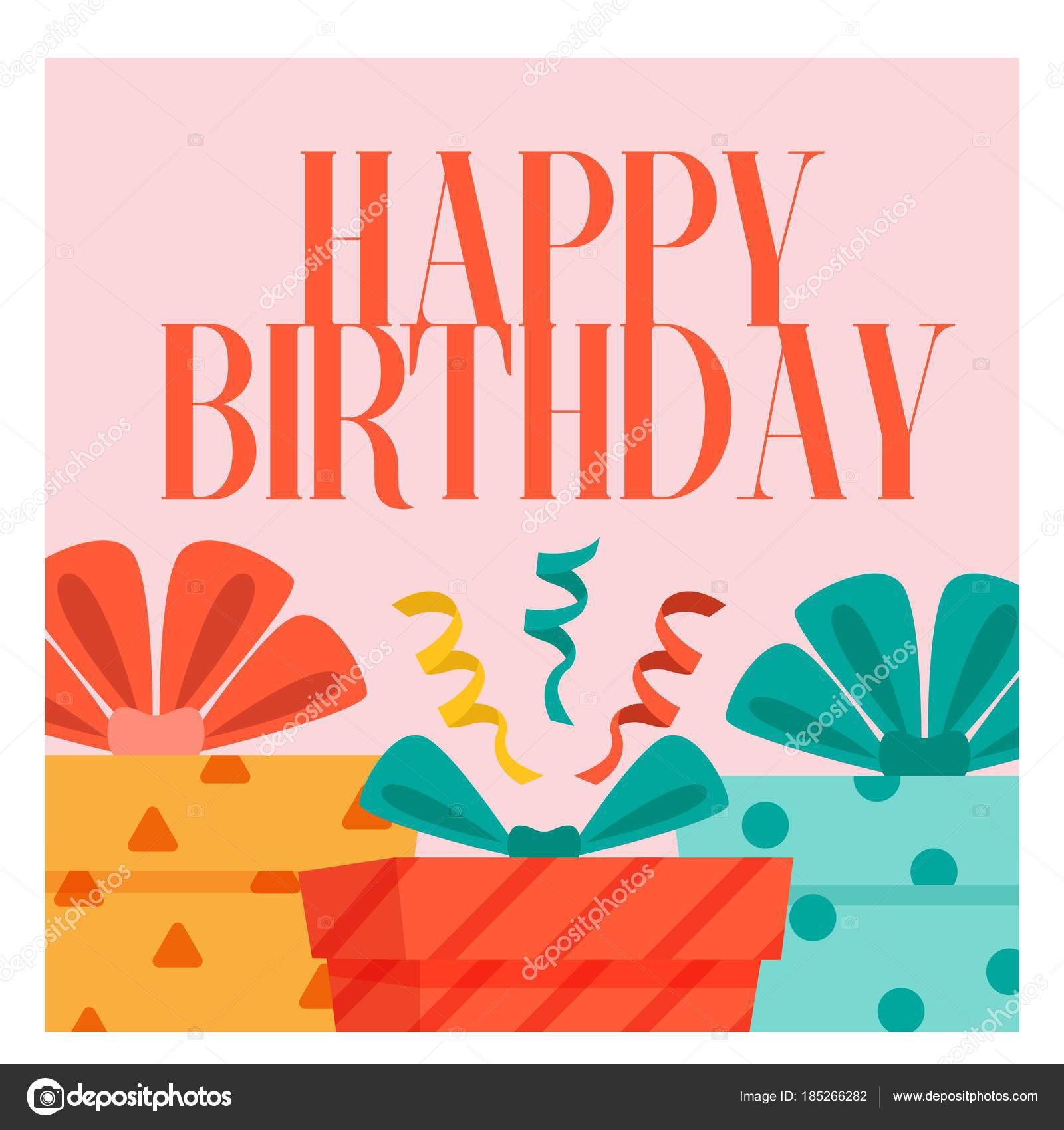 Happy Birthday Gift Box Background Vector Image Stock Vector