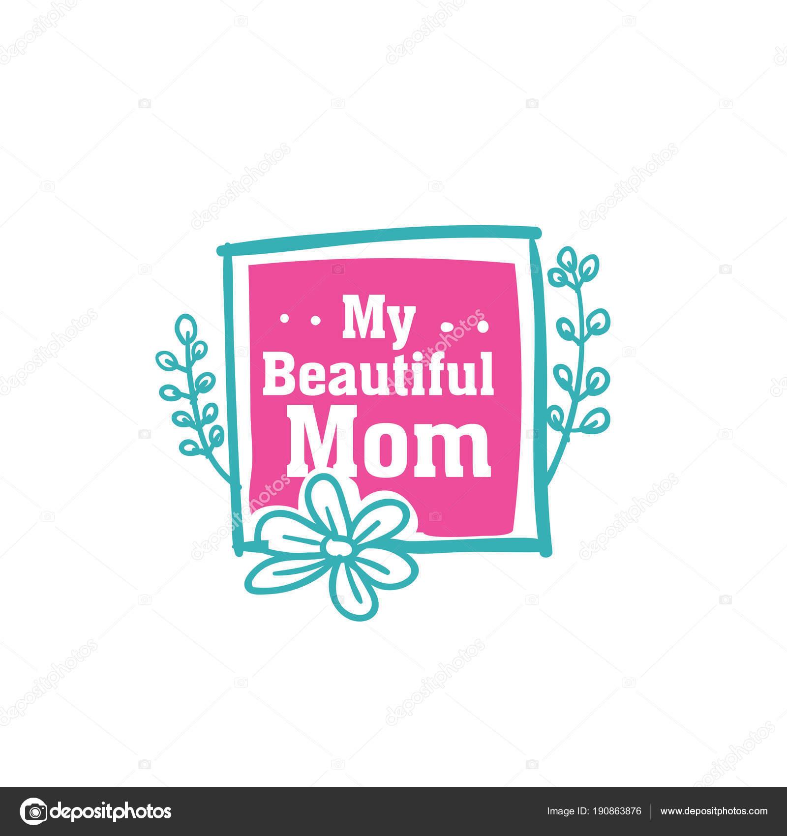 Meine Schöne Mama Blume Rahmen Vektor Hintergrundbild — Stockvektor ...